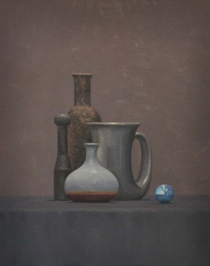 Still Life with Black Pin  20''x 16''