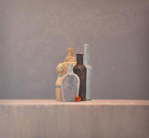 "Still Life with Black Bottle    28"" x  30"""