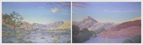 Red Rock Canyon  2 panels, each 7'x10'
