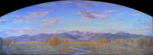 The Eastern Sierra in Fall,  8'x12'x34'