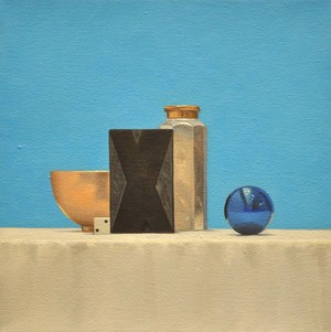 Still Life with Blue Ornament  14''x14''