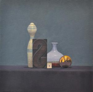 "Still Life with Gold Ornament   13"" x  13"""