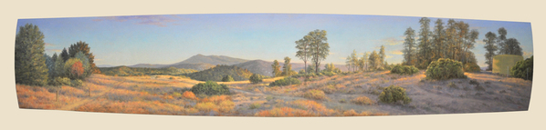 "View from the Fire Road   17"" x  87"""