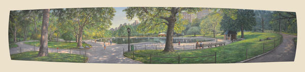 Summer in Central Park   18'' X 91""